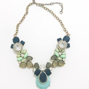 J Crew turquoise statement necklace